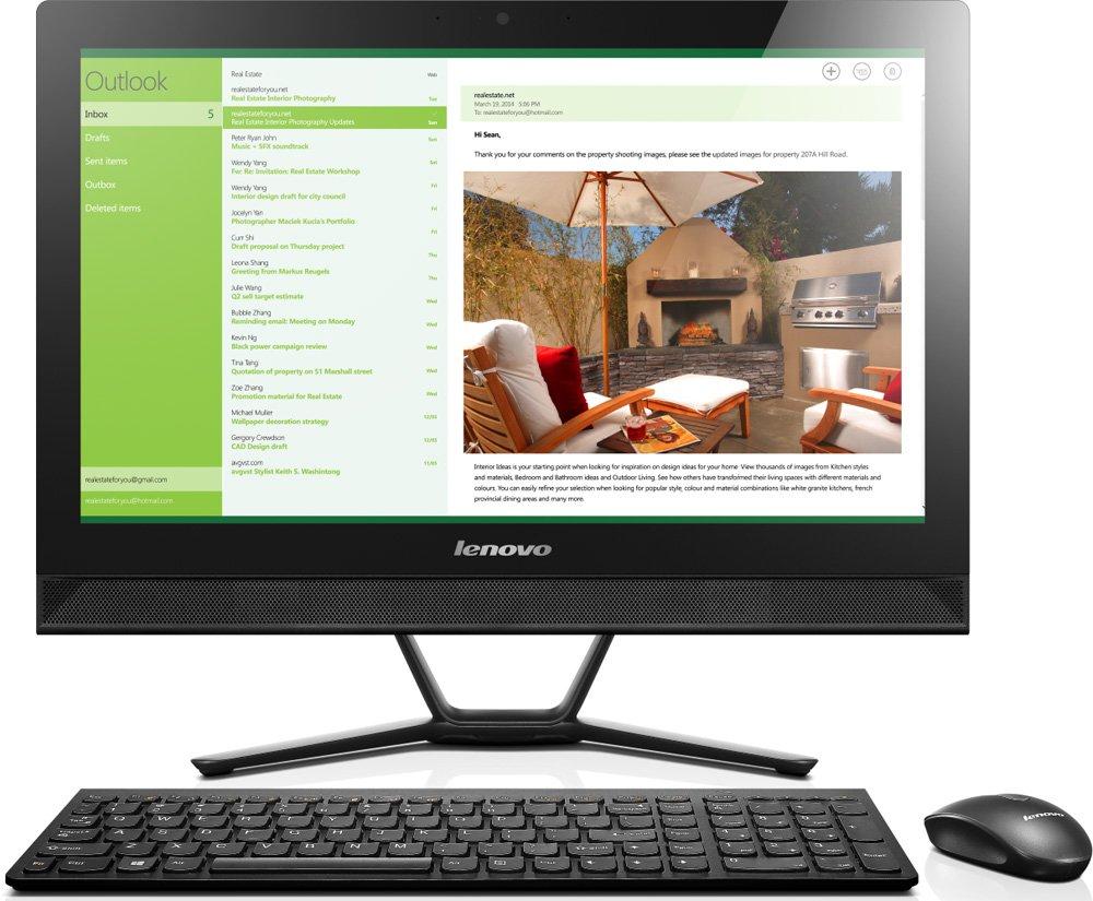 Lenovo C40-30 21.5, Intel Core i3-4005U 1.70GHz Dual, 4 Gb, 1 Tb HDD (F0B40058RK)Универсальные моноблоки<br>Моноблок<br>