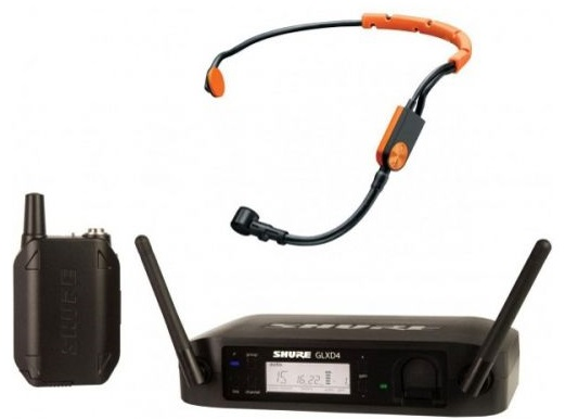 Shure GLXD14E/SM31 (A051867) - цифровая радиосистема с головным микрофоном (Black)