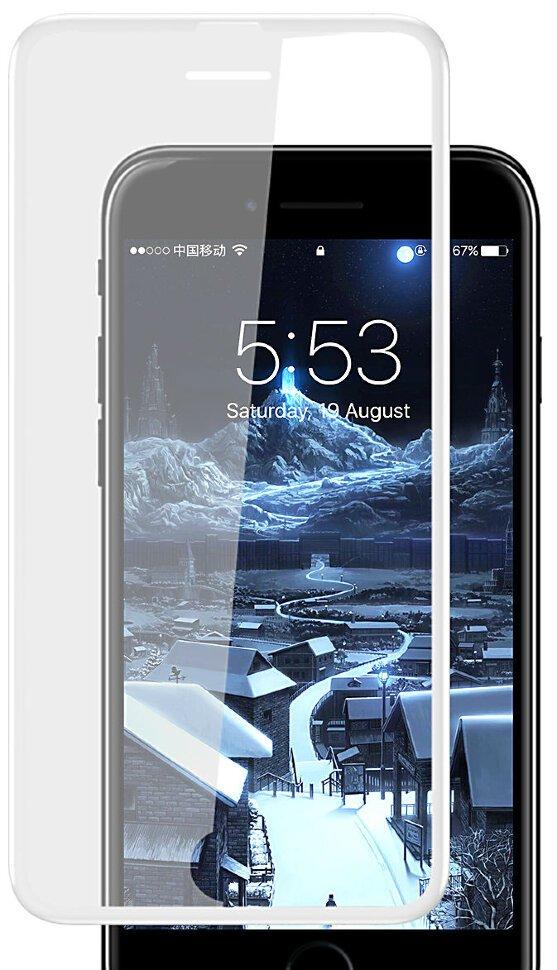 Защитное стекло Baseus Silk-screen Tempered (SGAPIPH7S-ZD02) для iPhone 6/6S/7/8 (White)