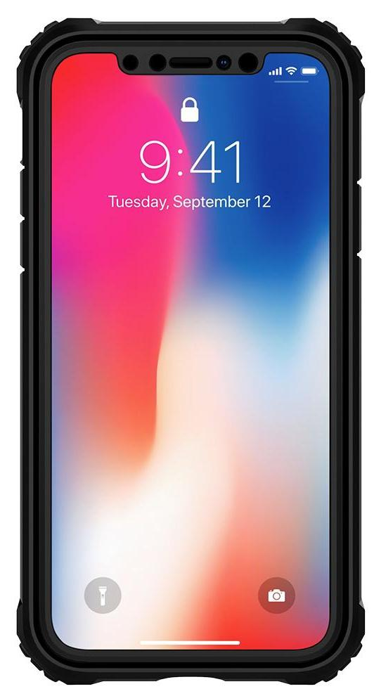 Чехол Spigen Pro Guard (057CS22179) для Apple iPhone X (Black)