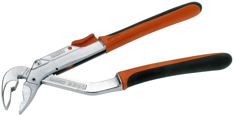 Bahco 8225 CIP 315 мм - переставные клещи (Orange/Black)  переставные клещи bahco ergo 8231