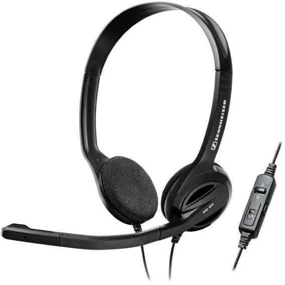 Sennheiser PC 36 Call Control (504523) - проводная стереогарнитура (Black) от iCover
