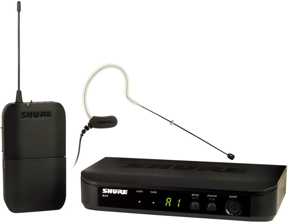 Shure BLX14E/MX53 K3E - головная радиосистема с микрофоном MX153 (Black)