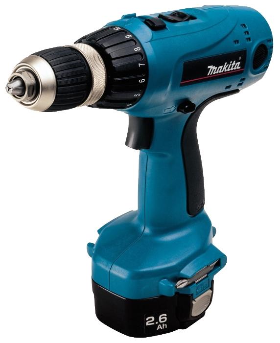 Makita 6337DWDE - дрель-шуруповерт аккумуляторная (Blue)  аккумуляторная дрель шуруповерт makita bhp451rfe