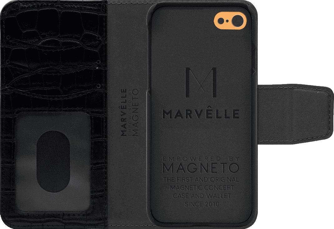 Чехол Marvelle N°301 для iPhone 6/6S/7/8 (Ballroom Black Croco)