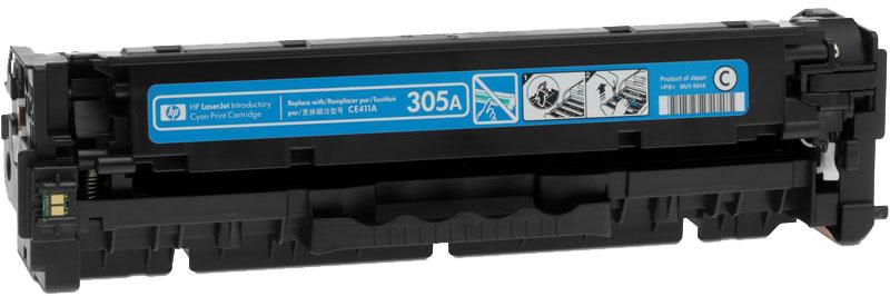 HP 305A (CE411A) - картридж для принтеров HP M351/M451/MFP M375/MFP M475 (Cyan)