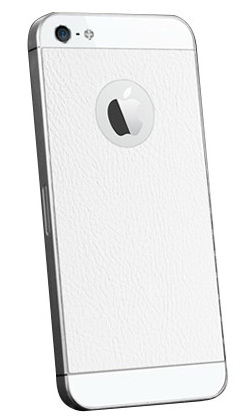 SGP Skin Guard Set (SGP09566) - защитный скин для iPhone 5/5S (Leather White)