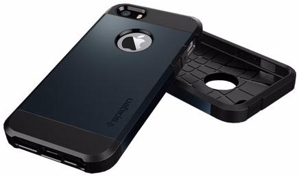 Spigen Tough Armor (041CS20187) - чехол для iPhone 5/5s/SE (Metal Slate)