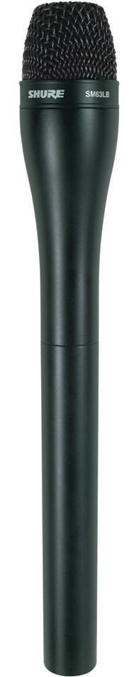 Shure SM63LB (53157) -  репортерский микрофон (Black)