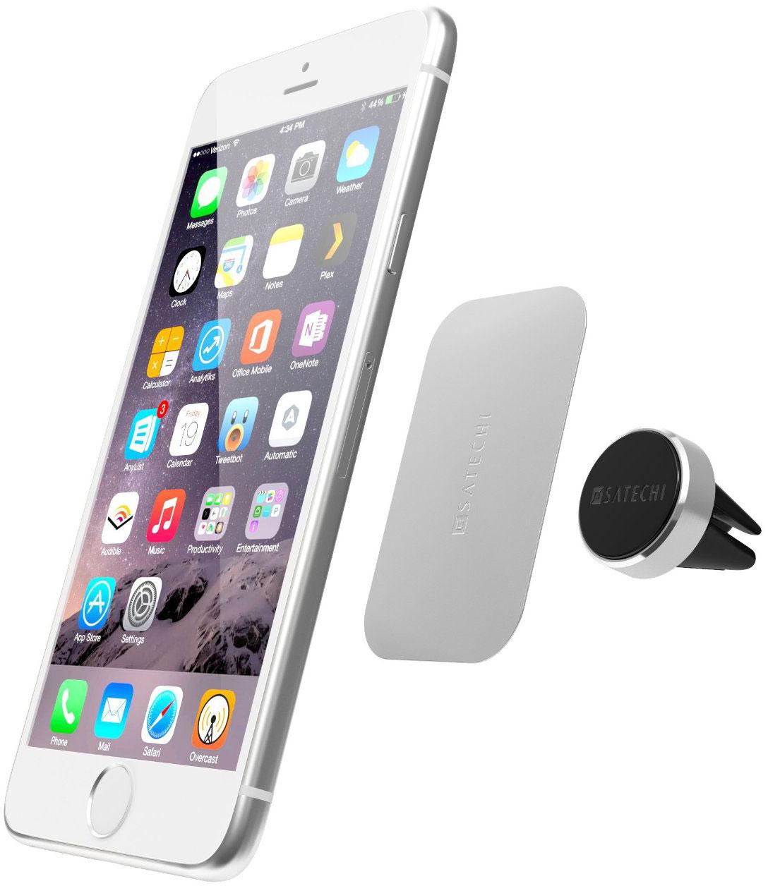Satechi Aluminum Magnet Vent Mount (B019PJLU32) - держатель для смартфона в воздуховод (Silver)