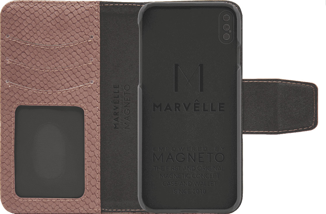 Чехол Marvelle N°301 для iPhone X/XS (Ash Pink Reptile)
