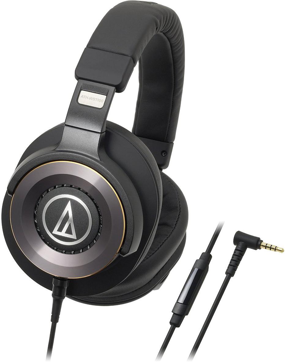 Audio-Technica ATH-WS1100iS - мониторные наушники с микрофоном (Black)