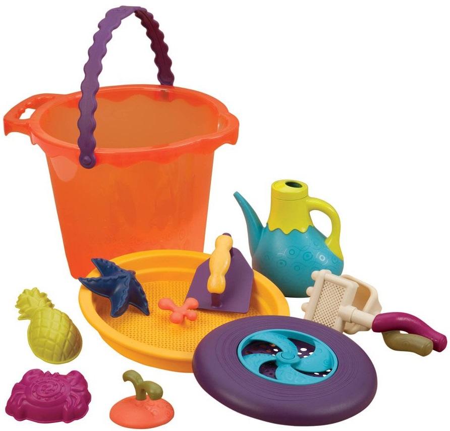 B. SummerРазвивающие игрушки<br>Большое ведерко и игровой набор для песка<br>