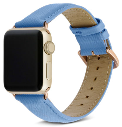 Сменный ремешок Dbramante1928 Mode Madrid (AW38FBGO5143) для Apple Watch 38mm (Forever Blue)