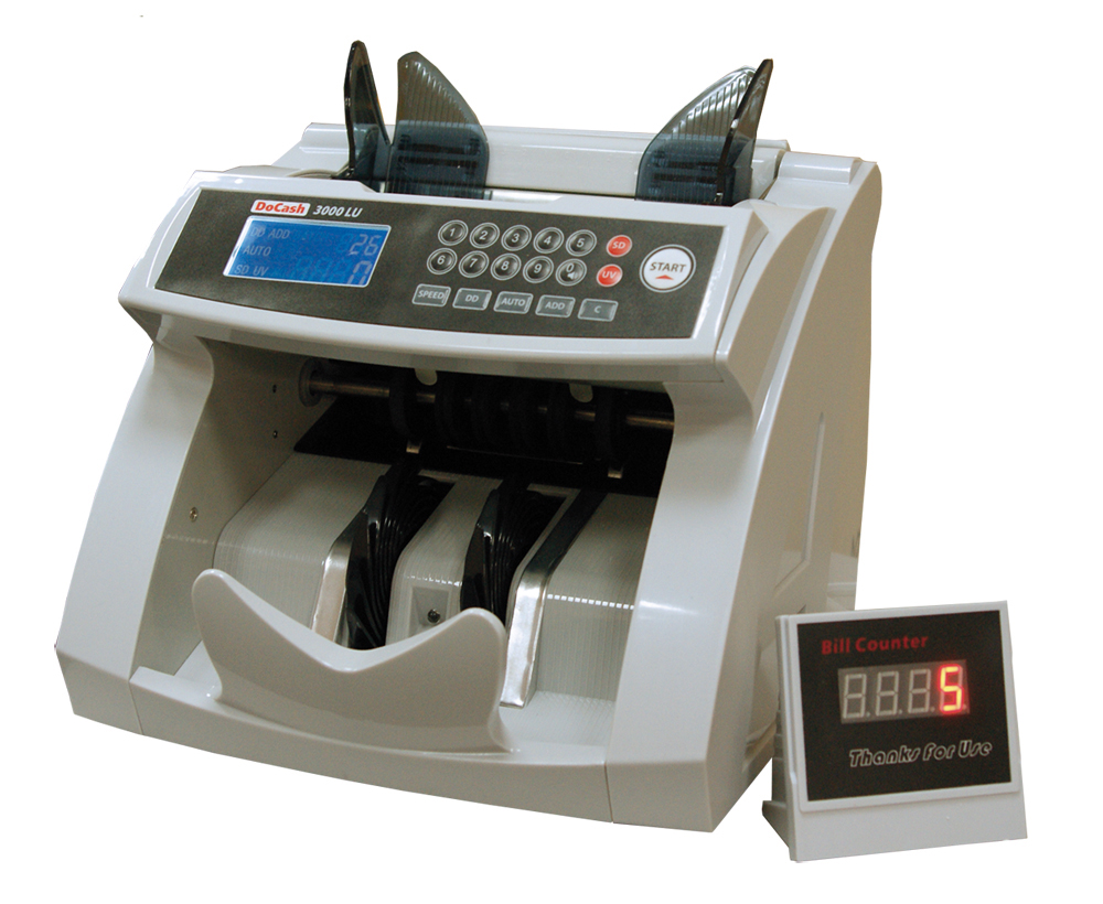 DoCash 3000 LU - счетчик банкнот (White) 9742