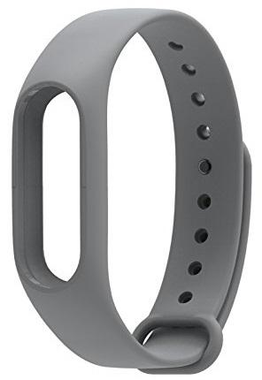 Сменный силиконовый ремешок для Хiaomi Mi Band 2 (Grey)