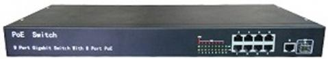 iVUE IVUE-PS10-1F8T-1U - коммутатор для IP-камер (Black)