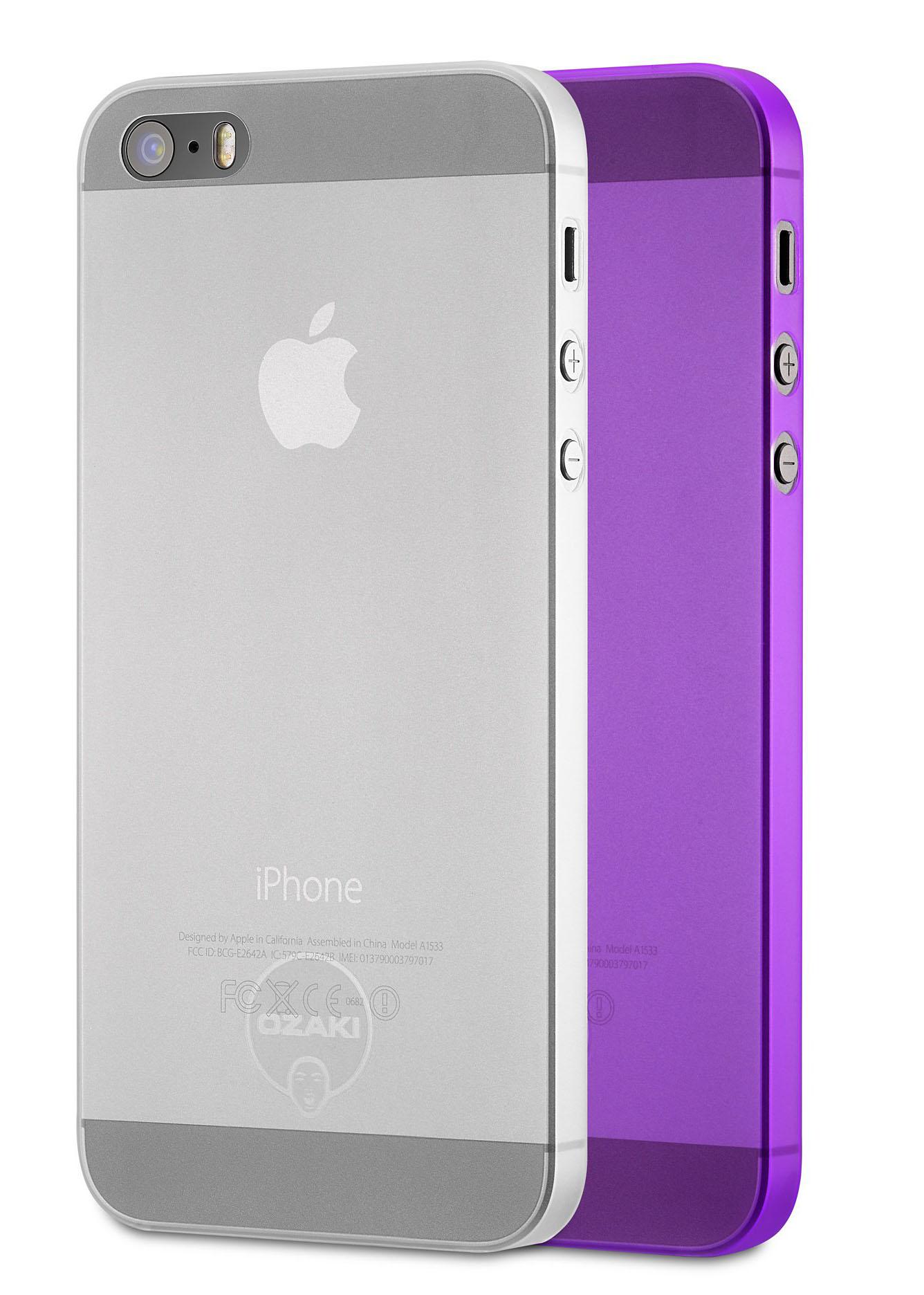 O!coat 0.3Чехлы-накладки для смартфонов<br>2 чехла для iPhone 5/5S<br>