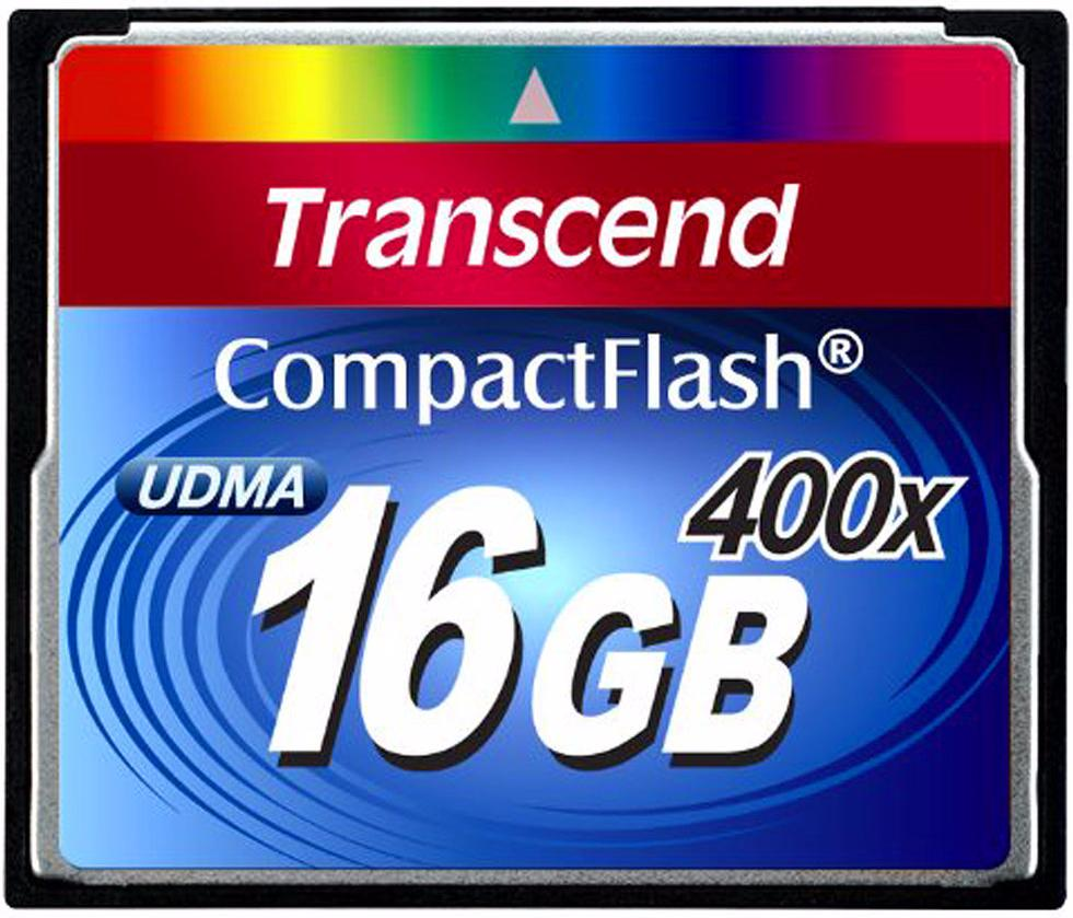 Transcend Compact Flash Premim 400x 16Gb (TS16GCF400) - карта памяти (Blue)