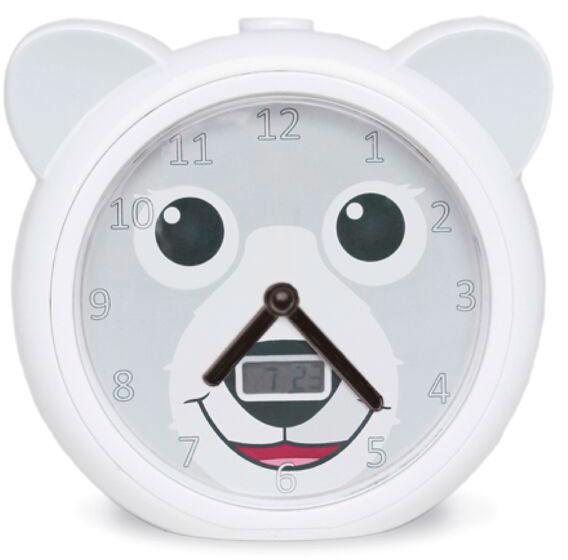 Часы-будильник Zazu Медвежонок Бобби ZA-BOBBY-01 (White).