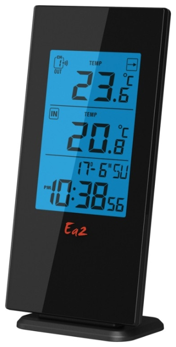 Ea2 BL501 - термометр с часами (Black)
