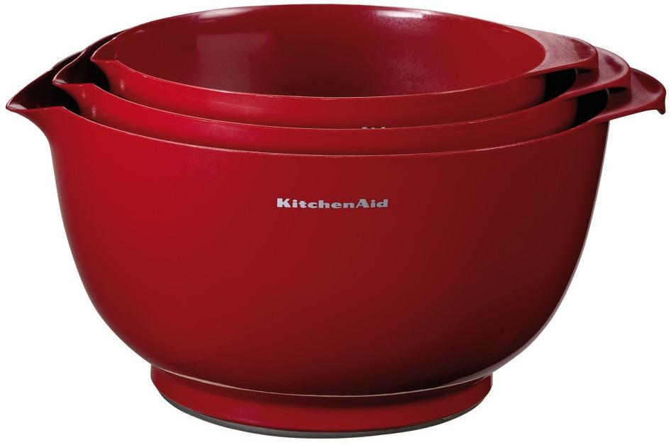 KitchenAid KG175ER - набор чаш для смешивания (Red)