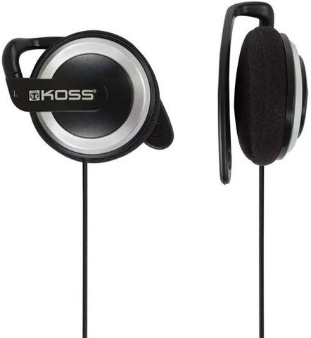 Koss KSC21 - накладные наушники-клипсы с заушным креплением (Black)  koss keb9 grey наушники