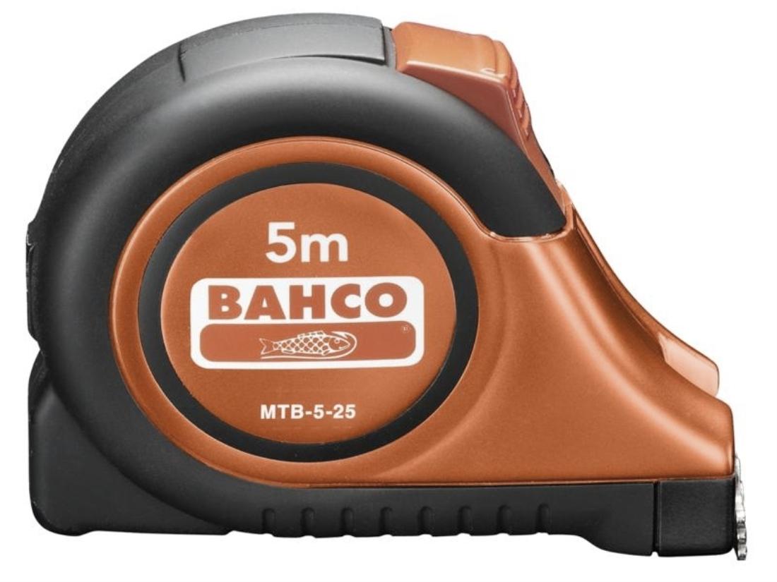 Рулетка Bahco 5 м MTB-5-25-M (Black/Orange)  рулетка bahco mts 8 25