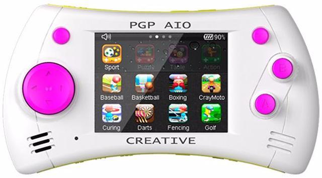 PGP AIO Creative 32 bit (MGS11-H) - портативная игровая приставка (White/Pink/Yellow) портативная аудиотехника
