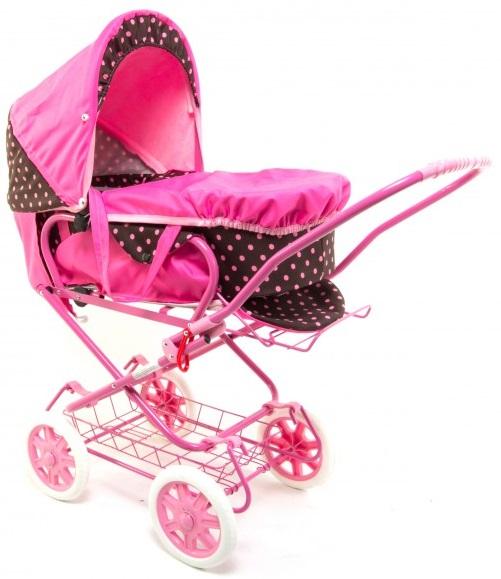 Wakart Марта (000sn-37091) - коляска для кукол (Pink/Black) от iCover