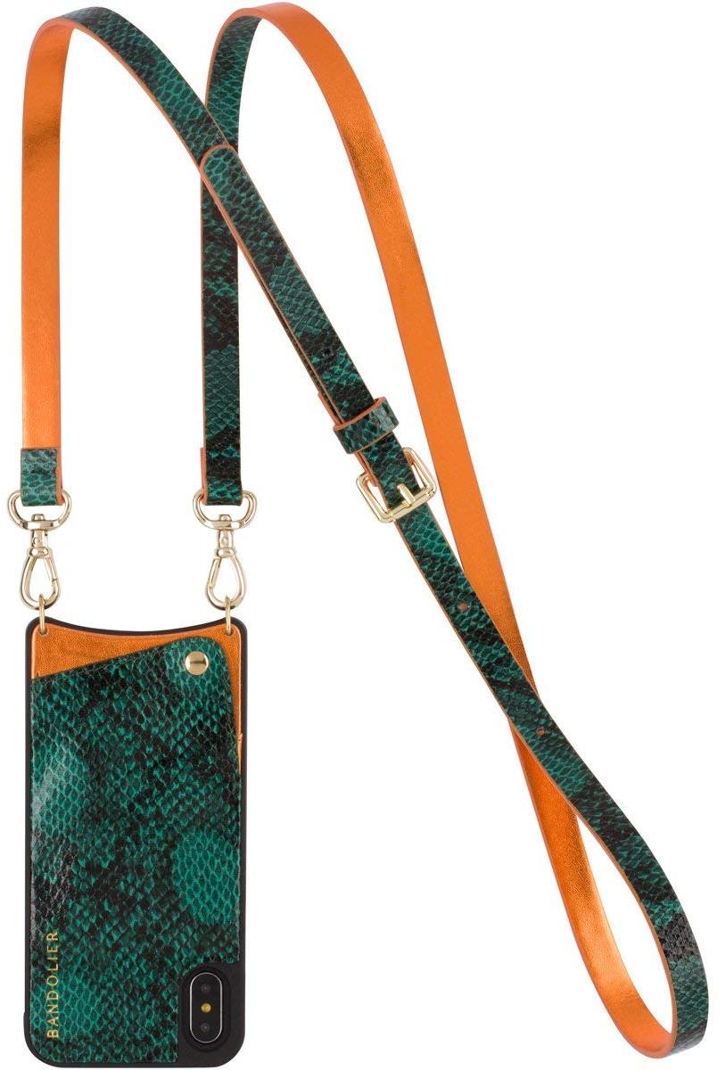 Чехол Bandolier Emma для iPhone X/Xs (Green Snake/Orange)