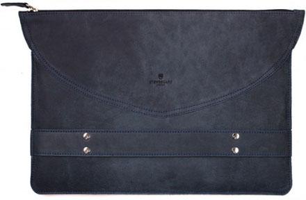 Stoneguard 521 (SG5210102) - кожаный чехол-папка для MacBook Pro 13 (Ocean)