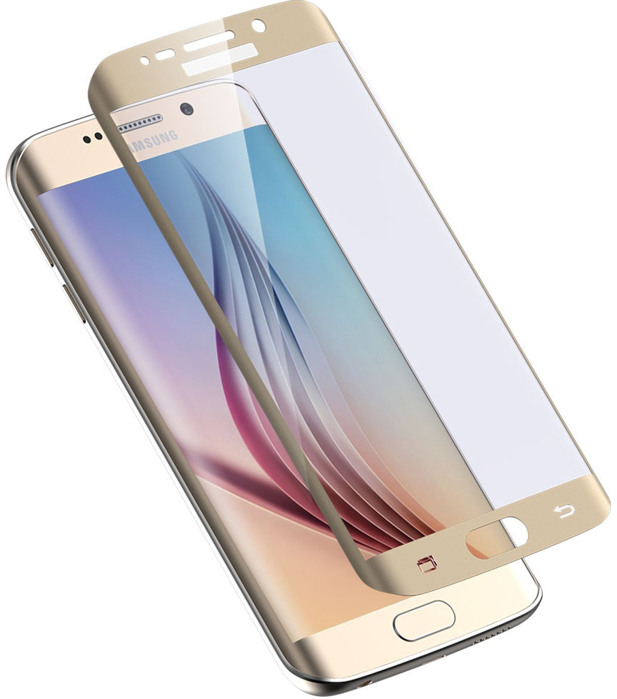 Защитное стекло Onext Tempered Glass для Samsung Galaxy S6 Edge (Gold)