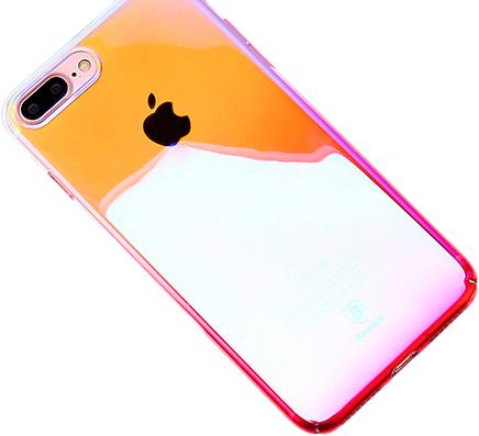 Baseus Polychrome Case (WIAPIPH7P-LC04) - накладка для iPhone 7 Plus (Pink)