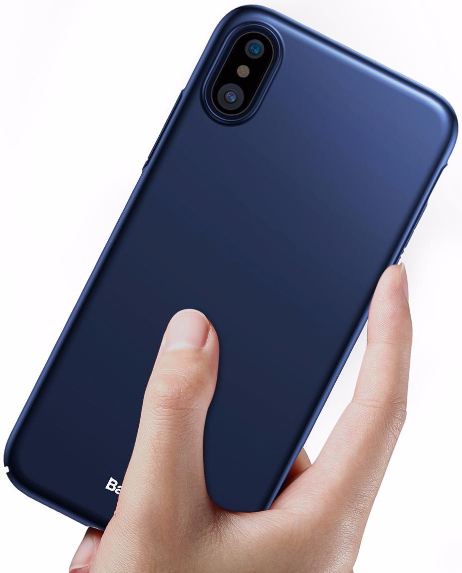Чехол-накладка Baseus Thin Case (WIAPIPHX-ZB15) для Apple iPhone X (Dark Blue)