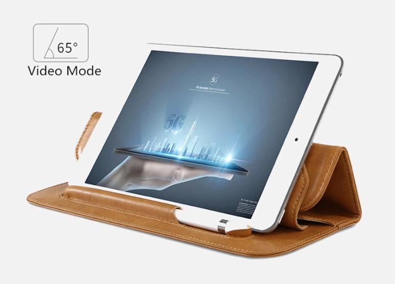 Чехол Jisoncase Mircofiber Leather Case (JS-IM5-01M20) для iPad Mini 5 2019 (Brown)