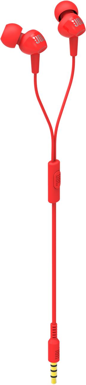 JBL C100SI (JBLC100SIURED) - внутриканальные наушники с микрофоном (Red)