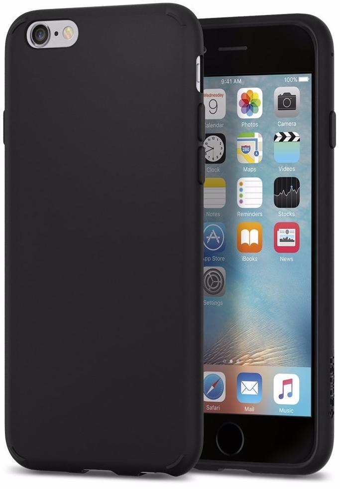 Чехол-накладка Spigen Liquid Crystal (035CS21532) для iPhone 6/6S (Matte Black)