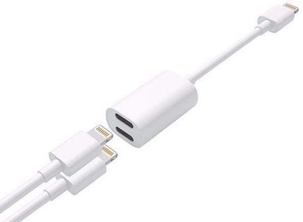 i-Blason Double Lightning Jack - кабель-переходник Lightning (White)