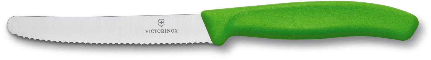 Victorinox 11 см (6.7836.L114) - нож для томатов и сосисок (Green)