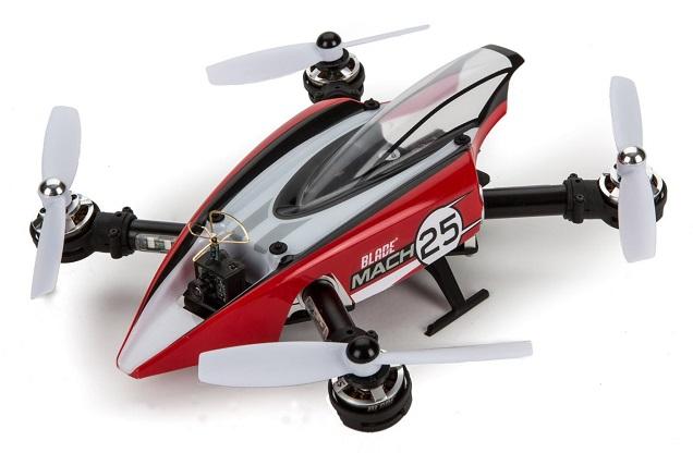 Blade Mach 25 FPV Racer BNF Basic (BLH8980) - гоночный квадрокоптер (White/Red)