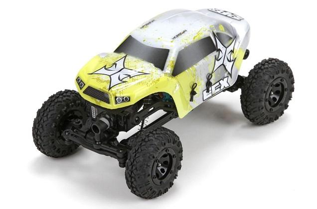 ECX Temper Rock Crawler 1:24 - радиоуправляемый автомобиль (Yellow)