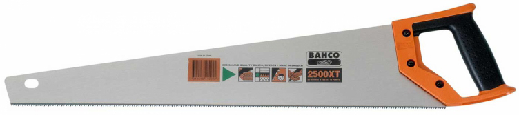 Bahco 2500-19-XT-HP - ножовка 475 ммСтолярные инструменты<br>Ножовка<br>