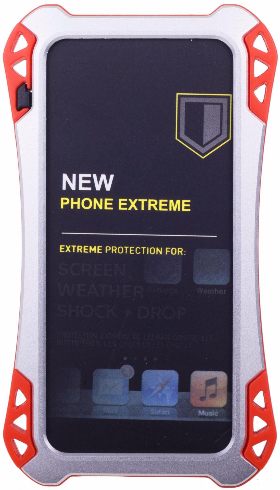 Amira Phone Extreme - защитный чехол для iPhone 5/5S/SE (Silver/Red)