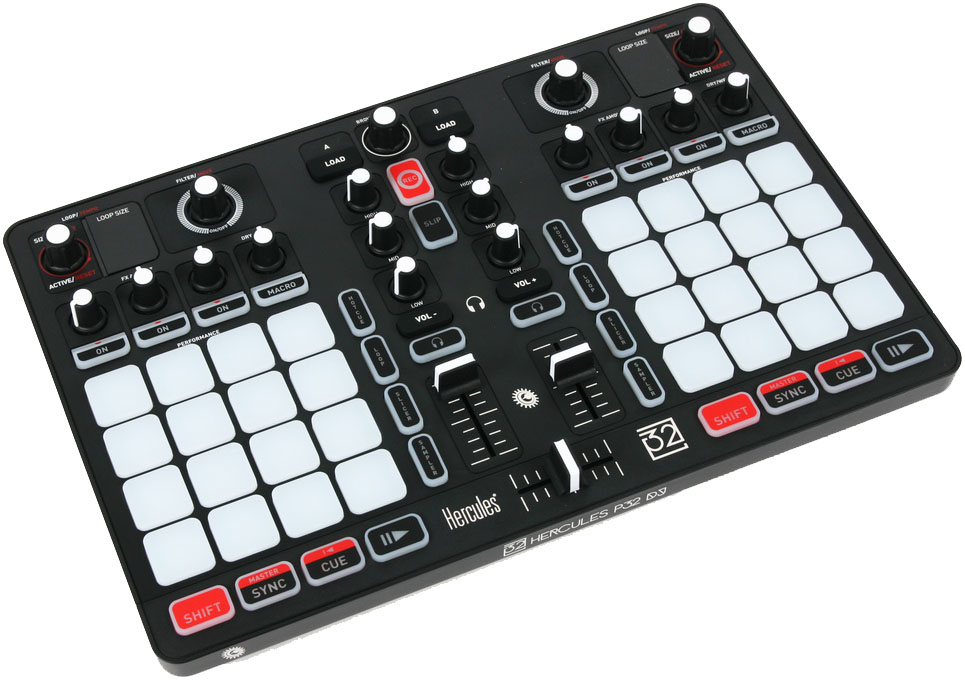 Hercules P32 DJ - микшерный пульт (Black) микшерный пульт alesis multimix 6fx