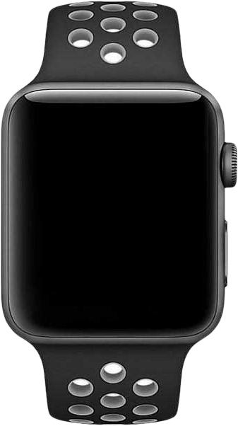 Ремешок COTEetCI W12 (WH5217-BK-GY) для Apple Watch series 2/3/4 42/44mm (Black/Grey)