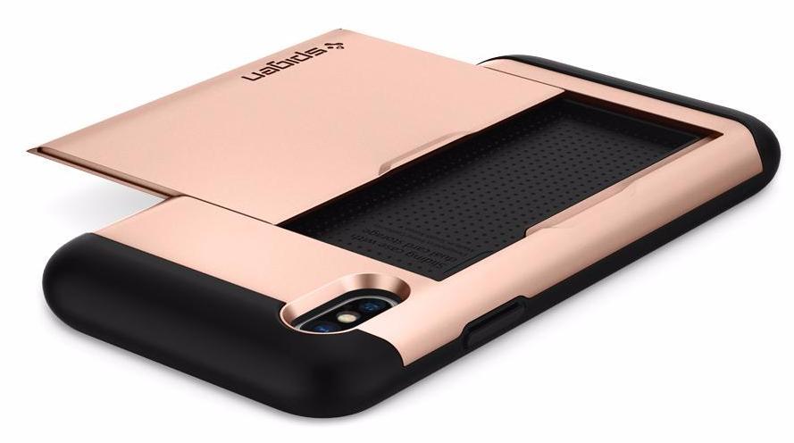Чехол Spigen Slim Armor CS (057CS22157) для Apple iPhone X (Blush Gold)