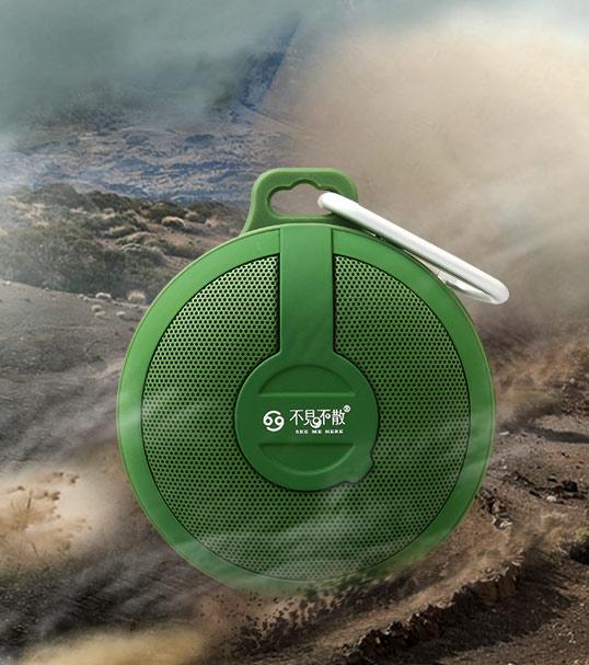 Портативный динамик GO BV210 Bluetooth wireless Portable Speaker Subwoofer (green)