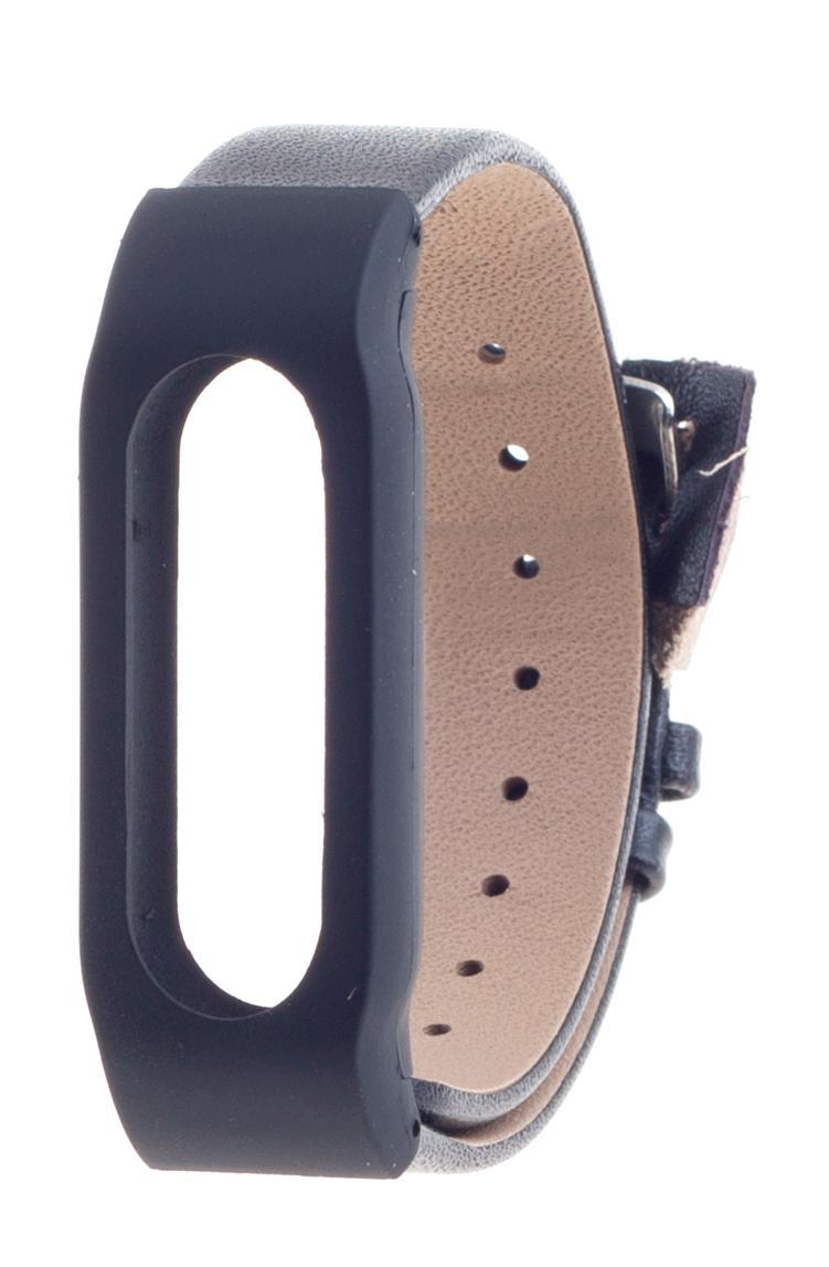 Xiaomi Leather Wristband - сменный ремешок для Xiaomi Mi Band (Black/Black)
