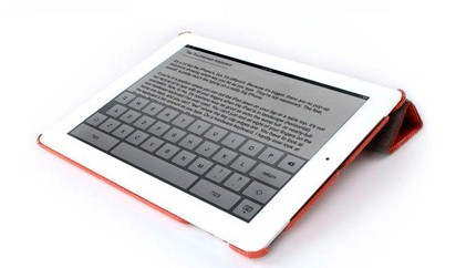 Jison Smart Leather Case - чехол для iPad 2/iPad 3/iPad 4 (Orange)